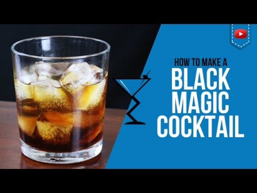 Black magic cocktail how to make black magic cocktail for Most common drink recipes