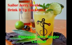 Sailor Jerry Week! Pineapple Jerry Ginger Cocktail!